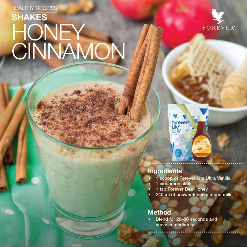 Resepi Sihat | Honey Cinnamon Shakes @ Minuman Forever Lite Madu & Kulit Kayu Manis