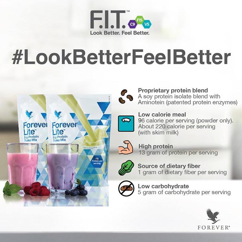 Forever Lite | Setiap Hidangan Forever Lite With Aminotein Mengandungi Nutrisi Yang Tinggi
