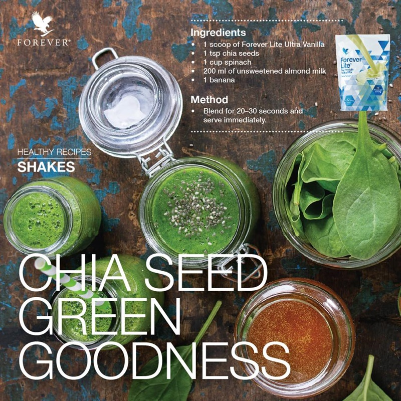 Resepi Sihat | Forever Lite Ultra Chia Seed Green Goodness