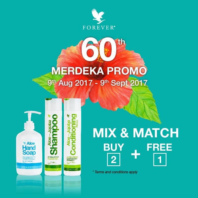 Promosi Jualan | 60th Merdeka Promo – Beli 2 Percuma 1 (9 Ogos – 9 September 2017)