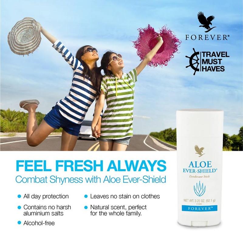 Produk Forever | Forever Aloe Ever-Shield – Deodoran Aloe Vera Bebas Aluminium Yang Tahan Lama