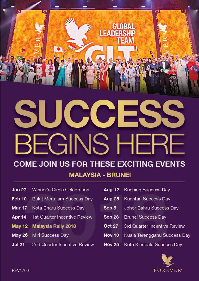Success Day | Jadual Success Day Forever Living Products Malaysia 2018