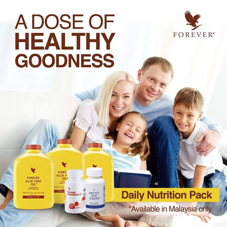 Pek Kombinasi Forever | Forever Living Daily Nutrition Pack (0.5cc) Untuk Penggunaan Sebulan